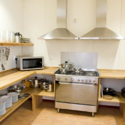 Die Küche im niederländischen Gruppenhaus für Kinder und Jugendliche Het Lohr***.