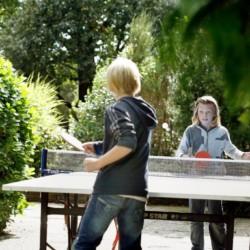 Tischtennis im niederländischen Gruppenhaus Markestee