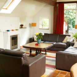 Wohnzimmer im niederländischen Gruppenhaus Markestee