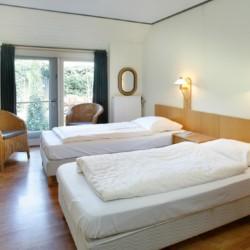 Schlafzimmer im niederländischen Gruppenhaus Markestee