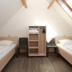 Die Zimmer im Haus 2 im Gruppenhaus Ameland in den Niederlanden.