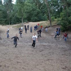 Das Waldstück für Spiele im niederländischen Gruppenhaus de Repelaerhoeve am Waldrand.