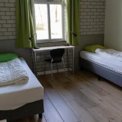 Das Doppelzimmer im niederländischen Freizeitheim Schop.