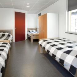 Das Zimmer im Gruppenhaus Landerij in den Niederlanden.