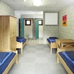 Die Zimmer im niederländischen Freizeitheim Zwerfsteen.