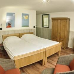 Das Doppelzimmer im handicapgerechten niederländischen Gruppenhaus Zonneroos.