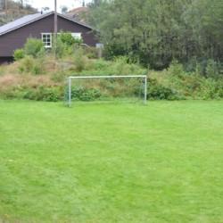 Das Außengelände des norwegischen Gruppenhauses Fjelltun Leirsted.