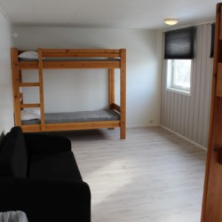 Ein Zimmer im norwegischen Gruppenhaus Fjelltun Leirsted.