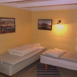 Ein Zimmer im Gruppenhaus Fjelltun Leirsted in Norwegen.