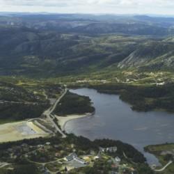 Die Wanderrouten rund um Das Freizeithaus Knaben Leirskole in Norwegen.