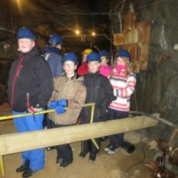 Bergwerkbesuch am Ort des norwegischen Freizeithauses Knaben Leirskole.