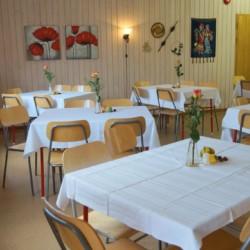 Speisesaal für Kinderfreizeiten im norwegischen Gruppenhaus Solsetra Misjonssenter