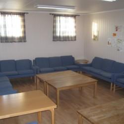 Gruppenraum im norwegischen Freizeitheim Gautestad Misjonssenter am See für Kinderfreizeiten