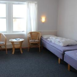 Doppelzimmer im norwegischen Freizeitheim Gautestad Misjonssenter am See für Jugendfreizeiten