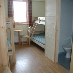 Mehrbettzimmer im norwegischen Gruppenhaus Kvinatun.