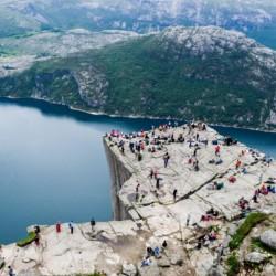 Ausflug Preikestolen vom norwegischen Freizeitheim Ognatun Ungdomssenter