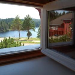 Aussicht aus dem Gruppenhaus Undeland in Norwegen.