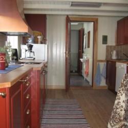 Eine Teeküche im Freizeitheim Undeland in Norwegen.