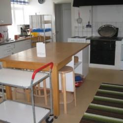 Die Küche im schwedischen Gruppenhaus Berga Gård.