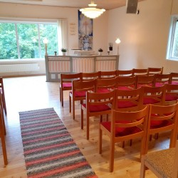 Kirchsaal im Freizeitheim Broddetorp in Schweden für Kindergruppen und Jugendgruppen