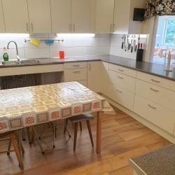 Küche im Freizeitheim Broddetorp für Kinder und Jugendliche in Schweden.