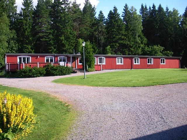 Die Außenansicht des Hauses Berghems in Schweden.