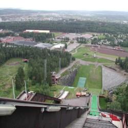 Ausflug vom Freizeitheim Ensro auf die Sprungschanze in Falun