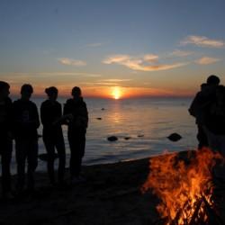 Umgebung vom schwedischen Gruppenhaus Gustavs Sommargard am Meer für Jugendfreizeiten