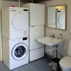 Waschmaschine im schwedischen Freizeitheim Högsma für Jugendliche