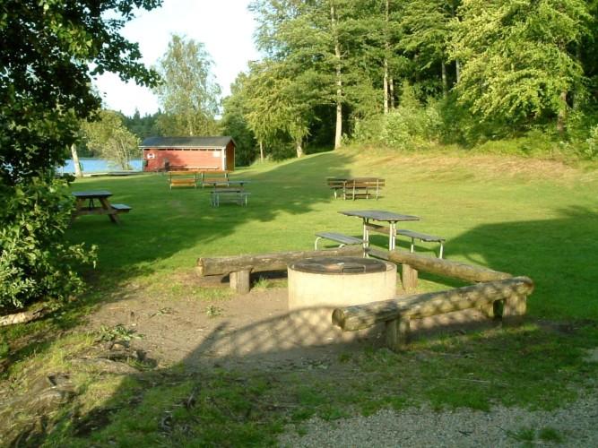 Der Badeplatz des Gruppenhauses Högsma Bygdegård in Schweden.