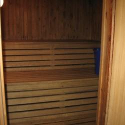 Sauna im Freizeitheim Idrottsgården i Flen in Schweden.