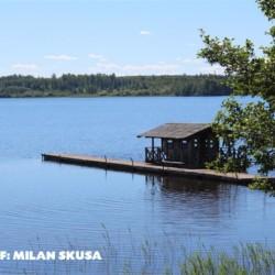 Sauna am Freizeithaus Majblommegården am See in Schweden.