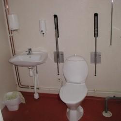 Die Badezimmer im schwedischen Gruppenhaus Ralingsåsgården.