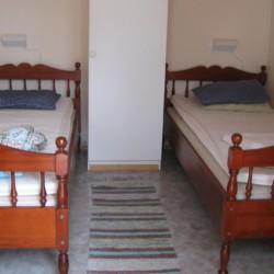 Schlafraum im schwedischen Gruppenhaus Rörviksgården direkt am See