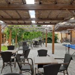 Außengelände im Freizeitheim für Kinder und Jugendliche in Slowenien
