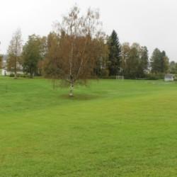 Die Spielwiese des Hauses Skogstad in Norwegen,