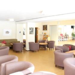 Ein Gruppenraum im norwegischen Freizeithaus Skogstad.