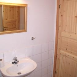 Waschbecken im Gruppenhaus in Norwegen Utsikten.