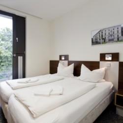 Doppelzimmer im barrierefreien Gruppenhaus Jugendherberge Düsseldorf am Rhein für Menschen mit Behinderung