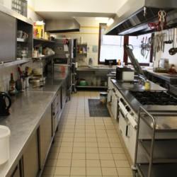 Der Küchenbereich des Friedrich-Blecher-Hauses in Deutschland.