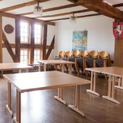 Der Gruppenraum im Haus Largesberg in Deutschland.
