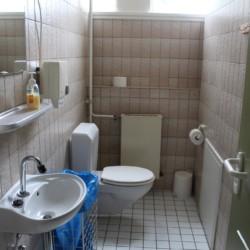 Die Sanitäranlage im Haus Largesberg in Deutschland.
