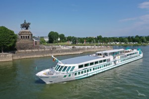 Das barrierefreie und rollstuhlgerechte Flusskreuzfahrtschiff MS Viola für Gruppenreisen in Deutschland.