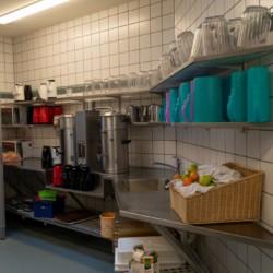 Die Küche im dänischen Freizeitheim Frostruphave.