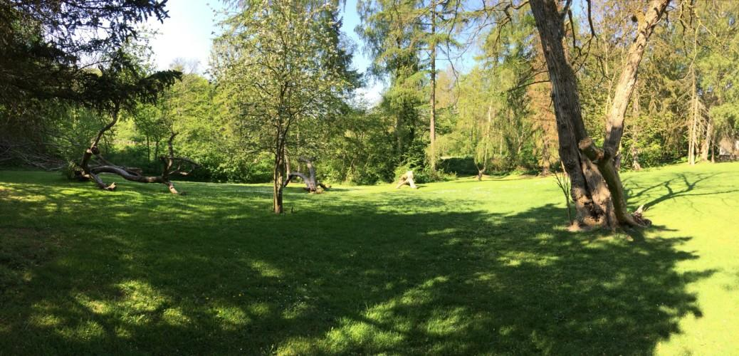 Das Freizeithaus Hulemosegård mitten in der dänischen Natur.