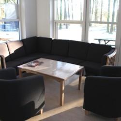 Sofaecke im dänischen Gruppenhaus Rolandhytten