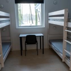 Schlafraum im dänischen Gruppenhaus Rolandhytten