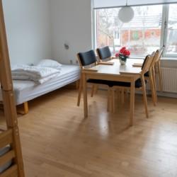 Die Zimmer im dänischen Gruppenhaus Thy Bo.