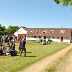 großes Scout-Gelände vom dänischen Gruppenhaus Trevaeldcentret für große Gruppen