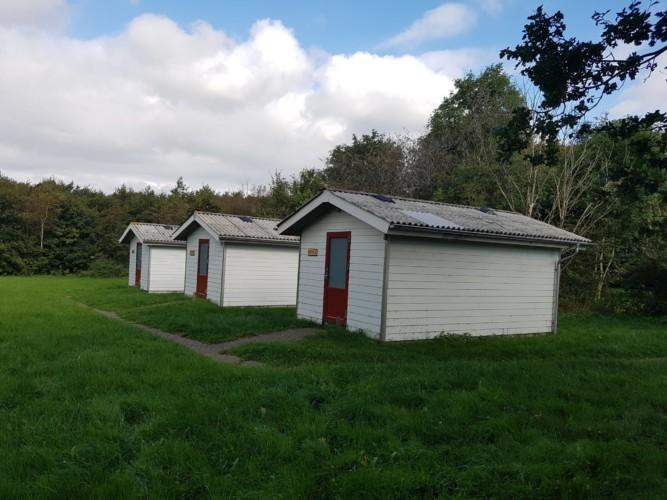 Separate Schlafhütten gehören zum dänischen Freizeitheim Trevaeldcentret